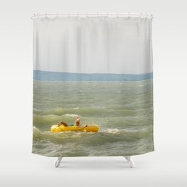 Lake Fun with Inflatable Toys Shower Curtain