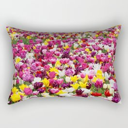 Collection of different tulips in Holland Rectangular Pillow