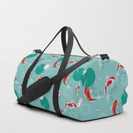 Koi swim in the clear water Duffle Bag