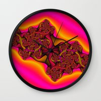 tequila Wall Clocks featuring Tequila Sunrise by Christy Leigh