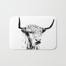 Wall Tapestry  portrait of a highland cow Bath Mat