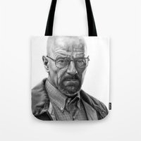 walter white Tote Bags featuring Walter White by robo3687