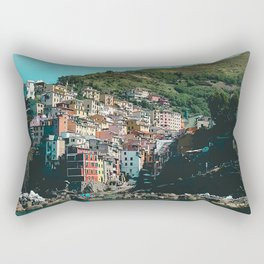 Colored Houses of Italy Rectangular Pillow