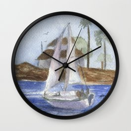 Blissful Bay Wall Clock