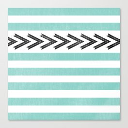 ARROW STRIPE {TEAL} Canvas Print