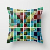 mosaic Throw Pillows featuring Mosaic by Tammy Kushnir