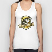 quidditch Tank Tops featuring Hogwarts Quidditch Teams - Hufflepuff by Deadround