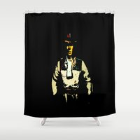 melissa smith Shower Curtains featuring smith by Crockettsky