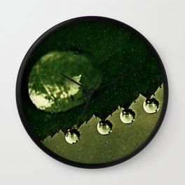 Leaf Drops Wall Clock