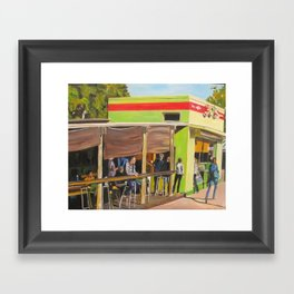 Jo's Coffee in Austin, Texas Framed Art Print