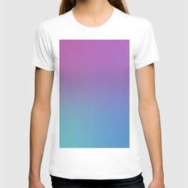 SUPERSTITION FUTURE - Minimal Plain Soft Mood Color Blend Prints T-shirt