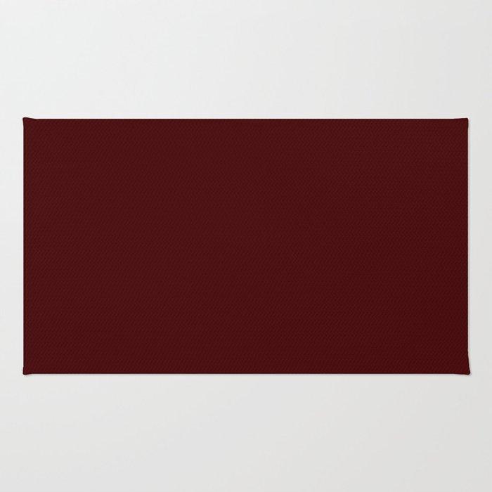 Bordo Wine Flat Color Rug