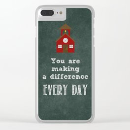 You are making a difference Clear iPhone Case