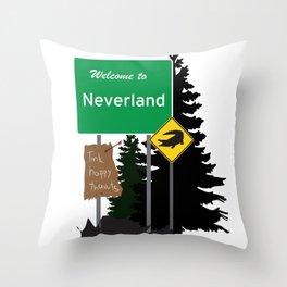 Neverland signs Throw Pillow