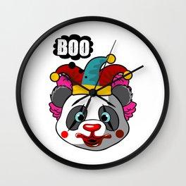 Clown Panda Halloween Joker Makeup on a Cute Panda Light Wall Clock