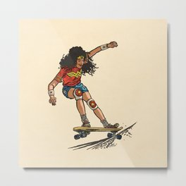 Wonder Skater (In Comic Colors!) Metal Print