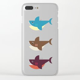 Snarky Sharky Clear iPhone Case