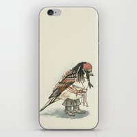 jack sparrow iPhone & iPod Skins featuring Captain Jack Sparrow by victorygarlic