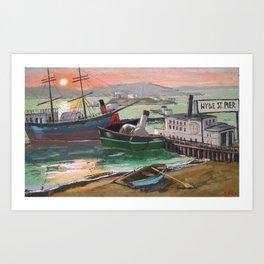 Hyde St. Pier Art Print