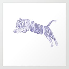 Purple Tiger Art Print