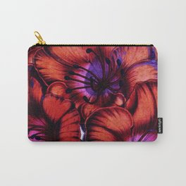 Retro Floral XIV Carry-All Pouch
