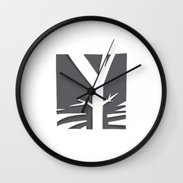 The Y Tree Wall Clock
