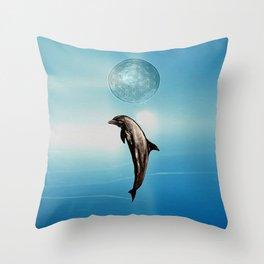 The DOLPHIN - ZEN version Throw Pillow