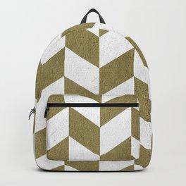Parallelogram pattern in olive textured Backpack