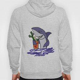 Funny Shark Drinking Bloody Mary Drink Artwork Hoody