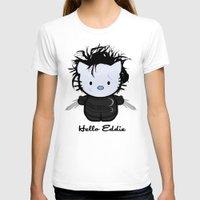eddie vedder T-shirts featuring Hello Eddie Scissorhands by Ludwig Van Bacon