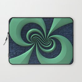 Green on Blue Laptop Sleeve