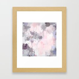 Modern Contemporary soft Pastel Pink Grey Abstract Framed Art Print