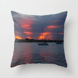Jensen Beach Sunset Throw Pillow