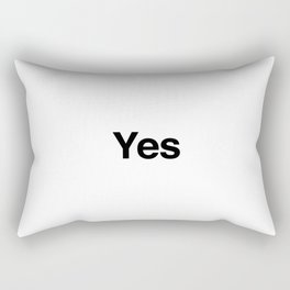 Yes Rectangular Pillow