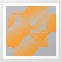 Gradient Geometrical smth Art Print