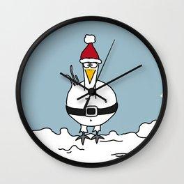 Eglantine la poule (the hen) dressed up as Santa Claus Wall Clock