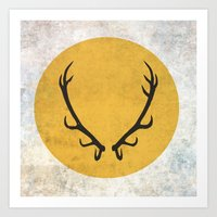 game of thrones Art Prints featuring Baratheon Flag (Game of Thrones) by Goat Robot