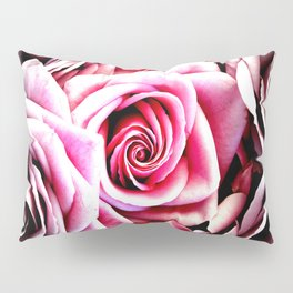 Bright Pink Roses : Pop of Color Pillow Sham