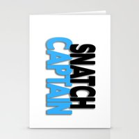 snatch Stationery Cards featuring Snatch Captain by Raunchy Ass Tees