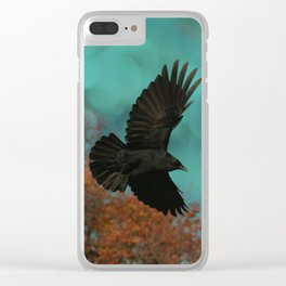 Soaring Crow Clear iPhone Case