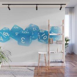 Blue Gaming Dice Wall Mural