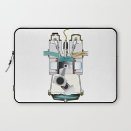 Compression Stroke Laptop Sleeve
