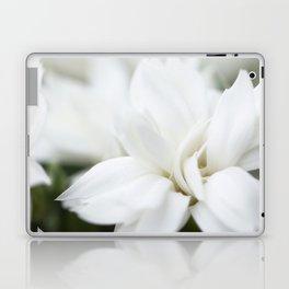 Snow White Flowers on a Dark Background #decor #society6 #buyart Laptop & iPad Skin
