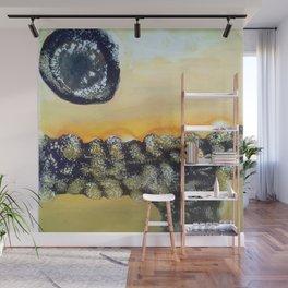 Jupiter Calling - Mixed Media Beeswax Encaustic Modern Fine Art, 2015 Wall Mural
