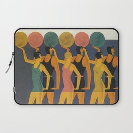 Art Deco Swimwear and Beach Balls Vintage Poster Laptop Sleeve