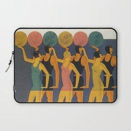 Art Deco Swimwear and Beach Balls Vintage Poster Laptop Sleeve