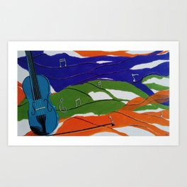 Waves of Music Art Print