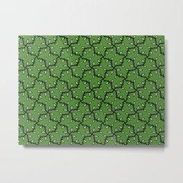 Patterns: Green Ivy Metal Print