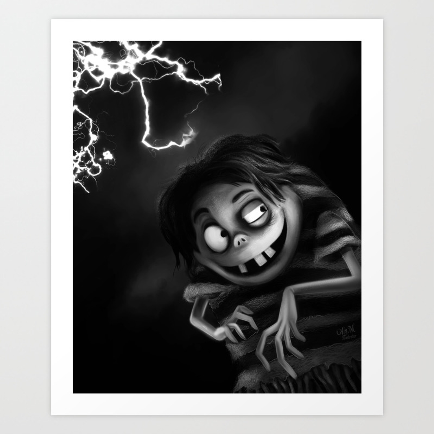 Edgar Gore Frankenweenie Art Print By Anmniniel Society6