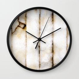 Weathered Alabaster (vertical) Wall Clock